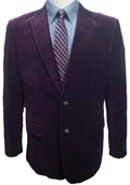 2 Button Dark Burgundy~Plum~Eggplant