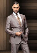 Button Tan Wool Suit