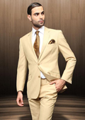 Button Camel Suit Comes