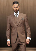 2 Button Vested Brown