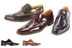 brown wing tip shoe