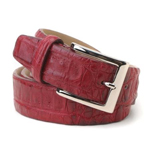 SKU#DB7034 Geranium caiman ~ alligator Hornback Belt $275