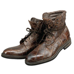 ITALY Brown Genuine Alligator