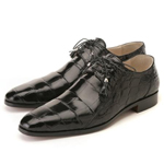ITALY Black Genuine Alligator