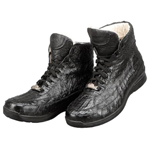 ITALY Black Genuine Caiman