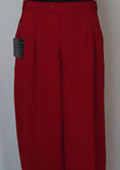 SKU#HF2867 Mens Red Multi Super 22' Wide-Leg Pleated Baggy Expandable Dress Pants $75