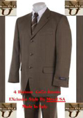 SKU TJR810 4 Buttons Mens Suits Conservative Brownish 159
