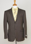 SKU#BH5291 Blazer Coat Men's Two Button Slim Fit Sport Jacket Brown $139