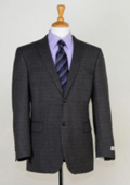 SKU#MH7299 Men's Two Button Slim Fit Sport Jacket Black $139