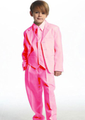 Breasted Boys Suit Pink