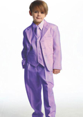 Breasted Boys Suit Lavender