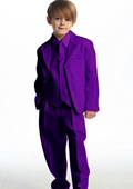SKU#PRK1801 Single Breasted Boy's Suit Purple ~ Eggplant $139