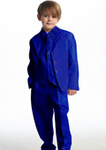 Single Breasted Boy's Suit Royal Blue $99
