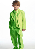 Breasted Boys Suit Lime