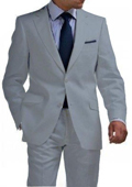 Light Weight 2 Btn Tapered Cut Half Lined Flat Front Linen Suit Vented Light Gray