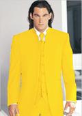 Tuxedo Mandarin Collar Yellow