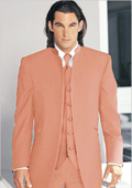 Tuxedo Mandarin Collar Vested
