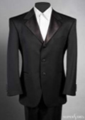 SKU# OFA599 Tuxedo 2-piece, 3 Button Single Breasted Super 100's Wool Feel Light Weight Soft Poly~Rayon