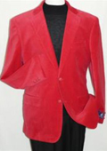 SKU#YT5542 Red Velvet Blazer Jacket $139