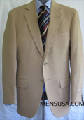 SKU#UL5545 Single Breasted Camel ~ Khaki Hair Sport Coat $275
