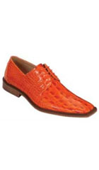 SKU#DE5579 classic comfortable latest in fashion Bright Orange Mens Dress Shoe