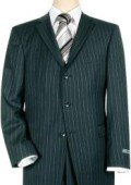 SKU 3BNBP  Navy Blue Pinstripe 3 Button Super 150s Wool Mens Suit 199