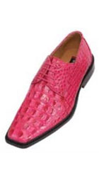 classic comfortable latest in fashion Brigh Pink fuchsia ~ hot Pink Mens Dress Shoe