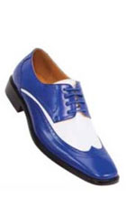 classic comfortable latest in fashion P1056-052 Two Tone Royal / White Mens Dress Shoe $125