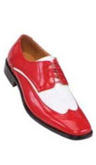 SKU#KW2217 BOLANO Two Tone RED / White Mens Dress Shoe $125