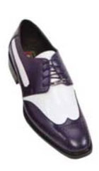 Purple / White Mens Two Tone Dress Shoe