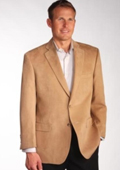 SKU#CML1891 Two Discount Affordable 2 Button Camel ~ Khaki Wool ~ Cashmere Blazer Sport Coat Jacket $225