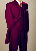 Burgundy Mens Zoot Suit
