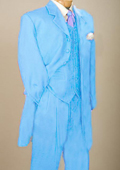 Sky Blue Men's Zoot Suit