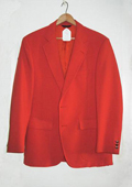 SKU#ORG8912 Man's Bright Orange 1970s Sport Coat $189