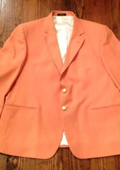 SKU#ORG9131 Men's Orange Blazer $189