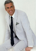 100% Cotton Classic Seersucker Suit Navy/White $185