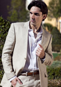 SKU#ESW13 Men's 100% Fine Linen Suit in Beige(Natural) $189
