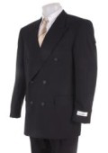 Men's Black Dress Double Breasted Light Weight Suit $139