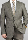 Tan linen suit