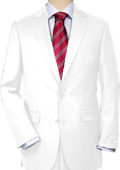 White Quality Suit Separates, Total Comfort Any Size Jacket & Any Size Pants $189