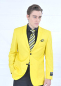 Fitted Premium Blazer Yellow