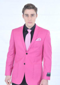 SKU#FSH78 Men's Fitted Premium Blazer Fuschia $139
