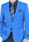 SKU#HNM27 Men's Fitted Premium Royal Blazer $139