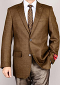 SKU#FVX72 Mantoni Men's Brown 2-Button Wool Sport Coat $179