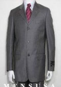 Solid Light Gray 3 Button Pick Stitch With Back Side Vents Dress Suits $295