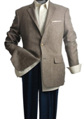 SKU#NAC82 Blazer Coat 2-Button Slim-Cut Brown Jacket $99