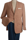 SKU#BGX58 2-Button Brown Fashionable Blazer $99