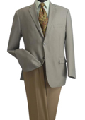 SKU#GXS32 2-Button Wheat Sand Khaki Beige Color Classic Blazer $99