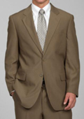 SKU#TYU72 Carlo Lusso Men's Taupe 2-Button Suit