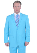 Men's 2 Piece affordable suit online sale - Light Blue ~ Sky Blue $139
